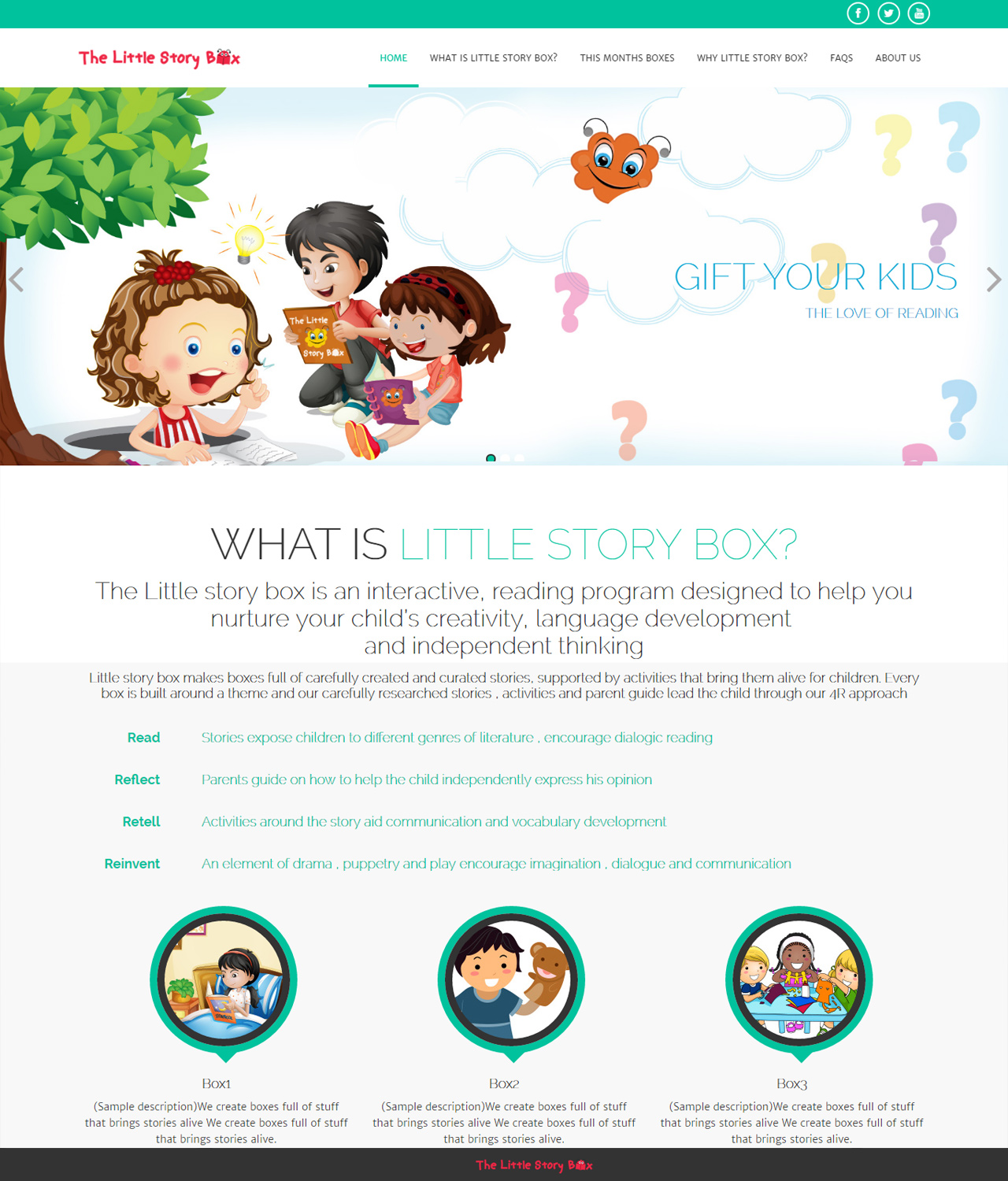 The Little story box is an interactive, reading program for kids